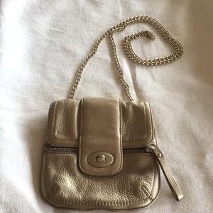 Metallic gold Banana Republic purse